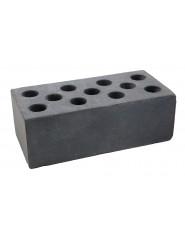 Кирпич силикатный полуторный черный гладкий (Глубокинский КЗ)