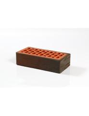 """Кирпич керамический одинарный красно-коричневый фактурный (""""Пятый элемент"""")"""