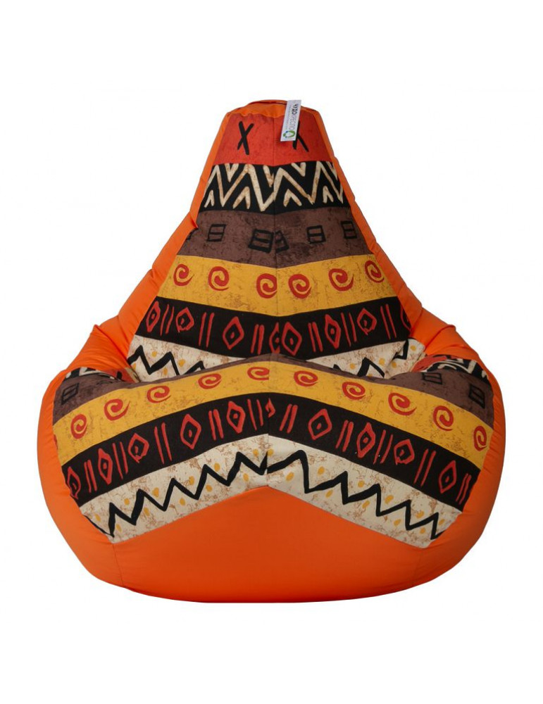 Кресло-груша Африка Оранж L