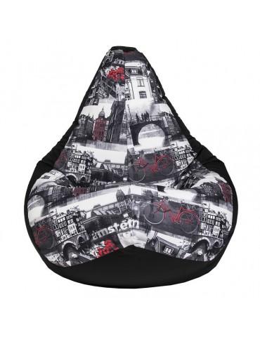 Амстердам Блэк кресло мешок размер XL