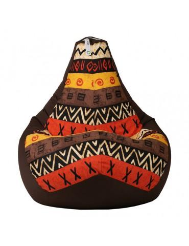 Африка Браун кресло мешок размер L