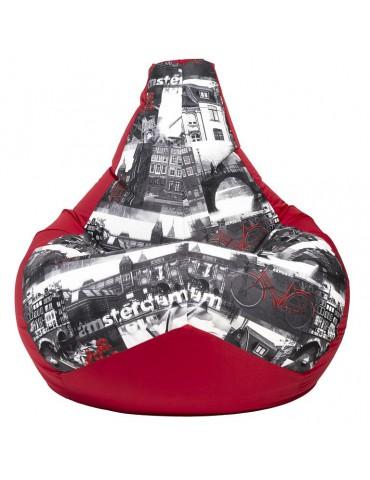 Амстердам Ред кресло мешок размер XL