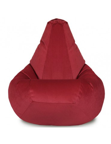 Кресло-груша Велюр Бордо L
