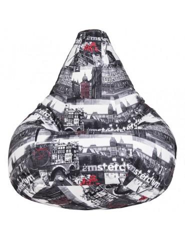Амстердам Графит кресло мешок размер XL