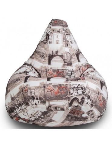 Амстердам Сепия кресло мешок размер XL