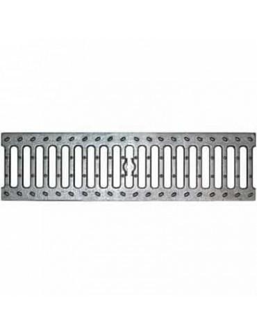 Aquastok Водоотводная решетка стальная щелевая DN100 оцинкованная